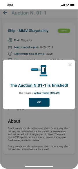 Win at auction